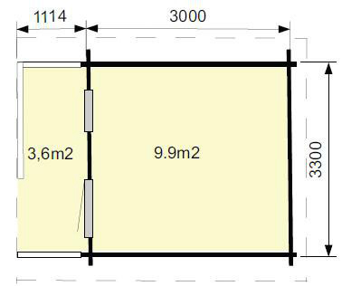 plattegrond Tuinhuis Emma