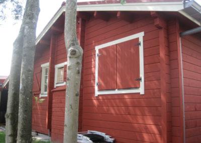 Blokhut, chalet en recreatiehuis Mans
